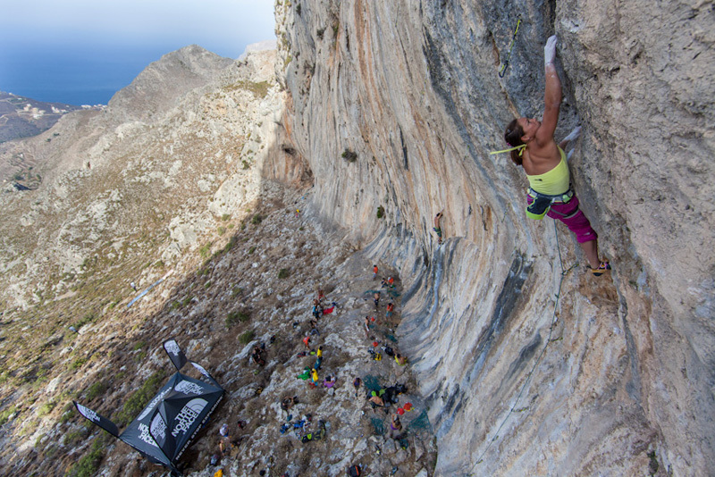 Caroline Ciavaldini taking part in the The North Face Kalymnos Climbing Festival 2012, The North Face ® / Damiano Levati