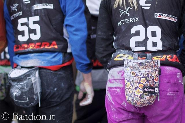 Momenti del Freeride Challenge Punta Nera 2012 a Cortina, Diego Bandion