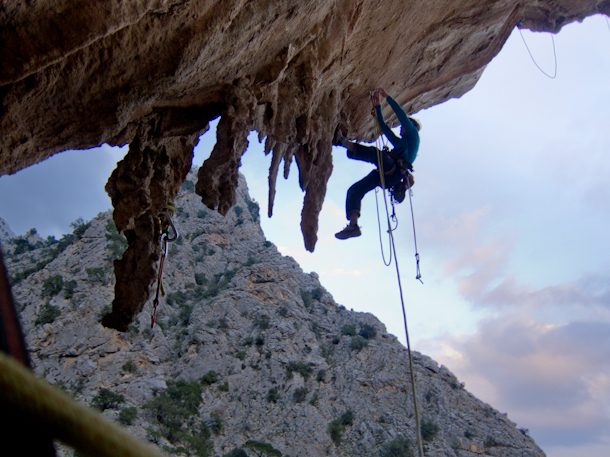 James Pearson bolting his Reverrance 8c+ at Geyikbayiri in Turkey, James Pearson archive