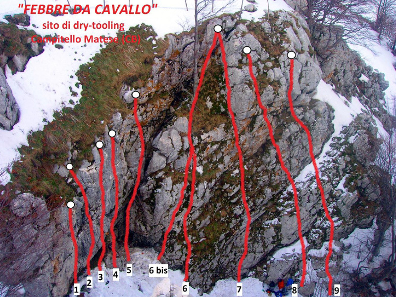 The drytooling crag Febbre da Cavallo in Molise, Italy, Riccardo Quaranta