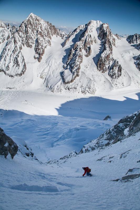 Davide Capozzi, Couloir de l'Aiguille Carrée, Aiguille Verte, Mont Blanc, Luca Rolli