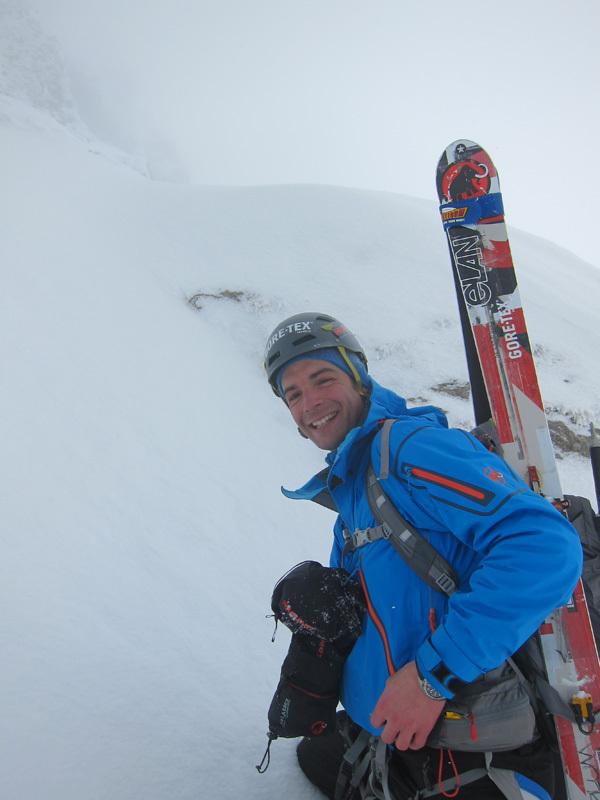 Sébastien de Sainte Marie sulla parete nord di Pilatus, Svizzera, febbraio 2013,
