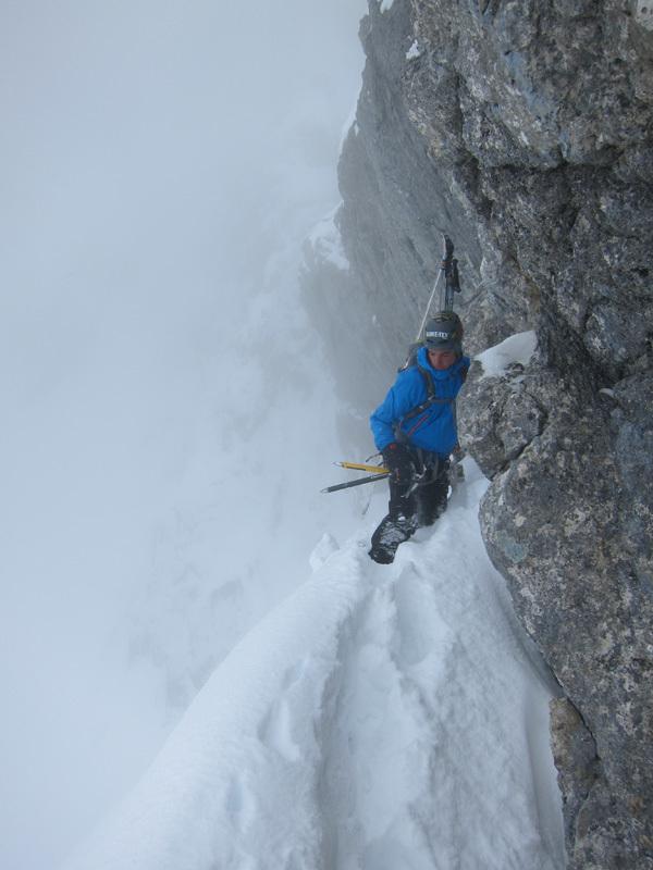 Sébastien de Sainte Marie e Olov Isaksson sciando la parete nord di Pilatus, Svizzera, febbraio 2013,