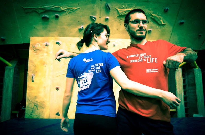 The Climb for Life 2013 T-shirt campaign to promote bone marrow donation,