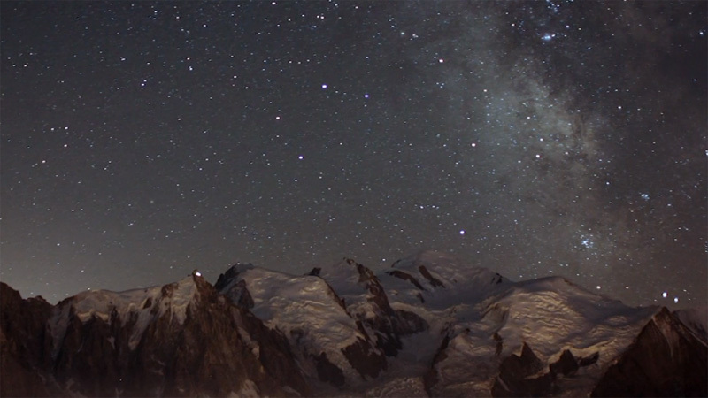 Mont Blanc timelapse taken by Davide Necchi on 11-12 August 2012., Davide Necchi