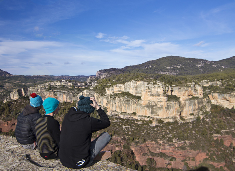 Gabriele Moroni, Silvio Reffo and Mauro Giordani at Siurana, Spain, Mauro Giordani