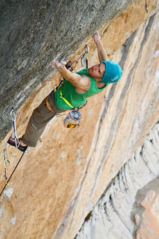 Gabriele Moroni climbing at Siurana, Spain, Mauro Giordani