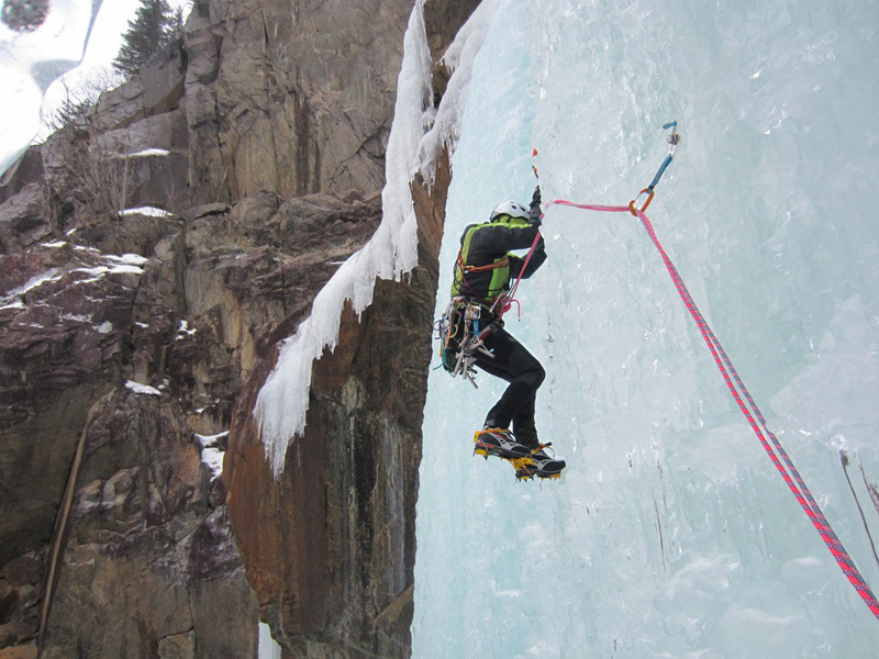 Ice climbing in Norway: Nye wermorkfoss, archivio Elio Bonfanti