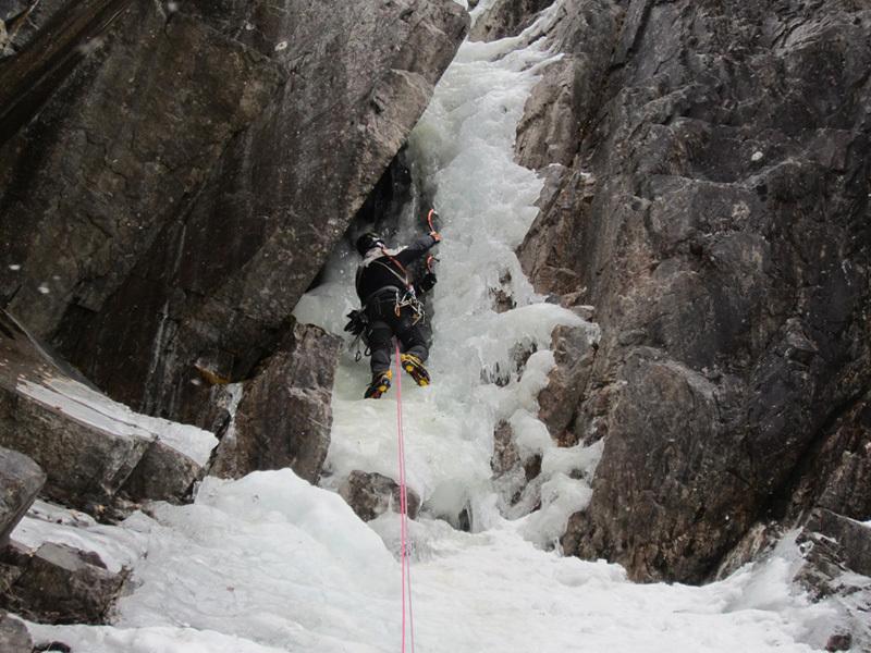 Ice climbing in Norway: Sabotørfossen (II/WI 5, 150m), archivio Elio Bonfanti