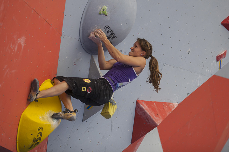 The first stage of the Bouldering World Cup 2013 at Chongqing in China: Anna Stöhr., ÖWK-Wilhelm