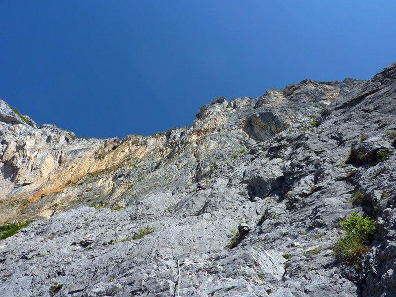 Sull aparte centrale di L'aspettativa dei mondi superiori (Monte Brento), archivio Ivo Ferrari