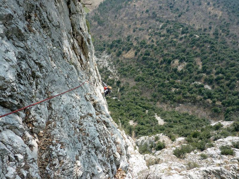 In arrampicata sul Pian della Paia, archivio Ivo Ferrari
