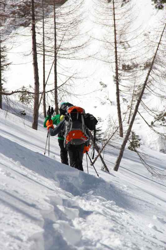 Martin Riegler e Florian Riegler hanno liberato Pinocchio (M8+, WI 5), una via di misto in Val Travenanzes (Dolomiti) aperta nel 2010 da Valentin Riegler e Hannes Lemayr., Christoph Vonmetz