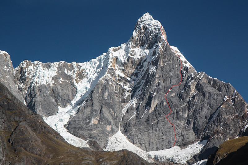Jirishanca, Peru e il tentativo di Michi Wohlleben, Arne Bergau e Hannes Jähn., Hans Hornberger
