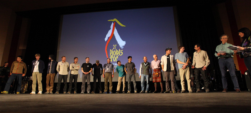 The awards ceremony of the Piolets d'Or 2013, Lanzeni / Piolets d'Or