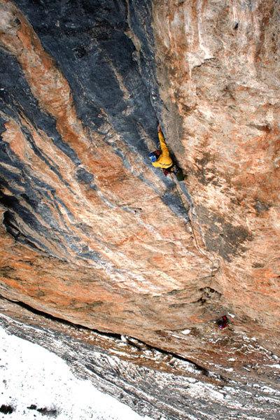 Vint ani do (8a+ 350m), Sella, Dolomites, Moritz Tirler