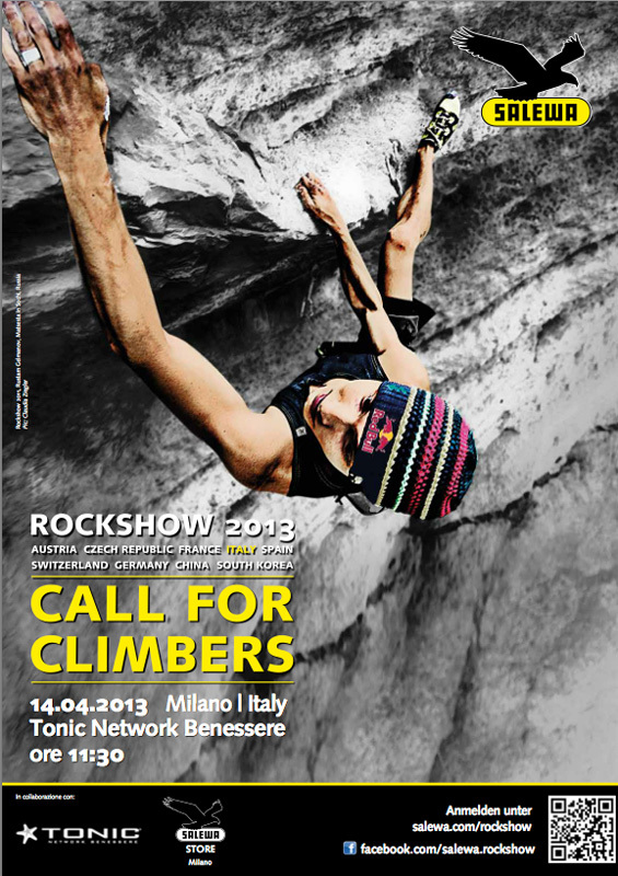 Salewa Rockshow 2013: call for climbers, Salewa