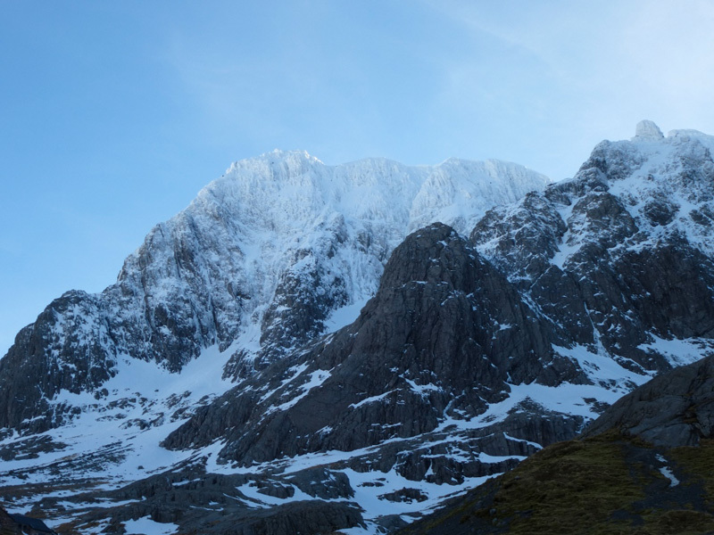 Approaching the N Face of Ben Nevis, Filippone - Rossi - Sanguineti - Türk