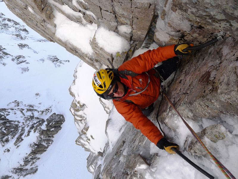 Marcello Sanguineti ascending Gargoyle Wall, Sanguineti - Türk