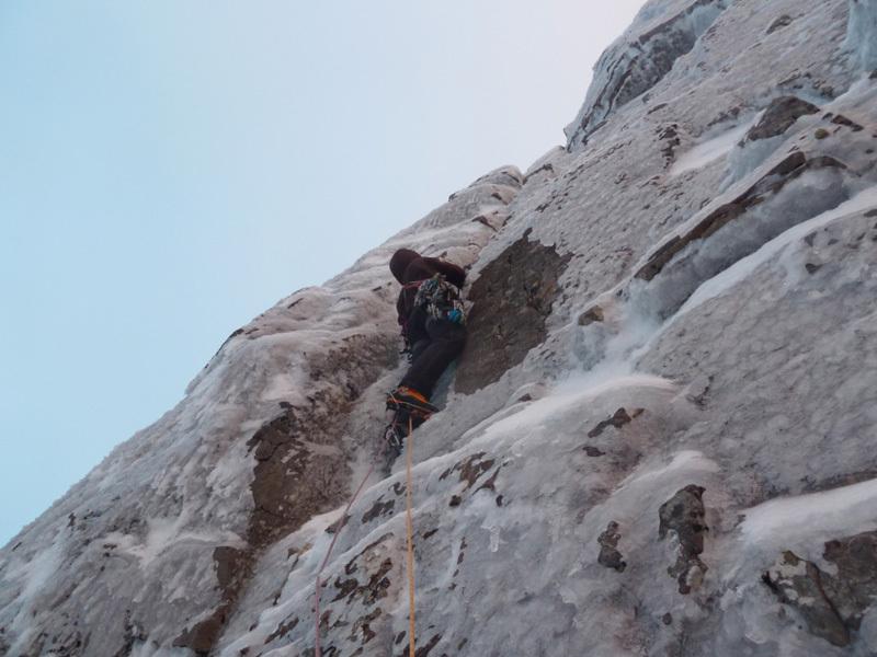 Christian Türk climbing Gargoyle Wall, Sanguineti - Türk