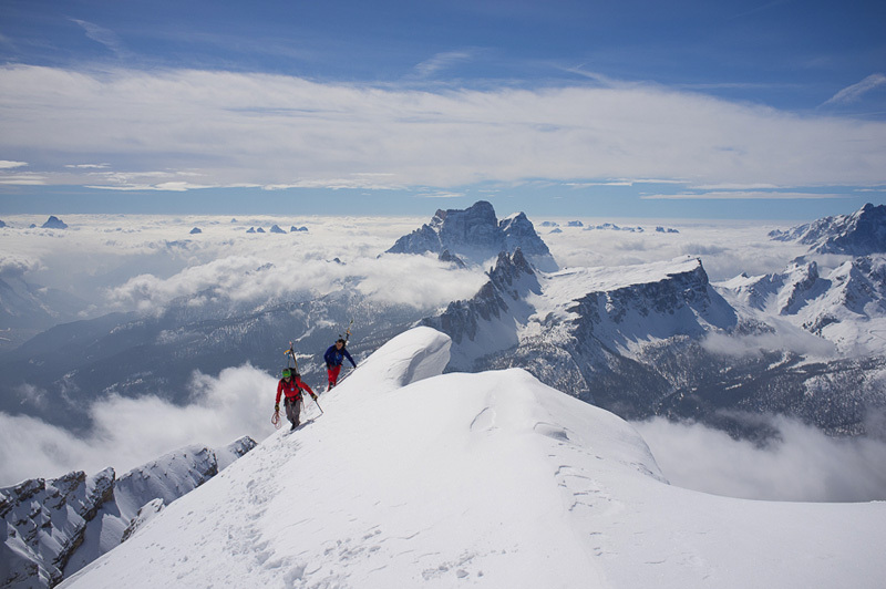 Towards the summit of Tofana di Mezzo, Dolomites, Francesco Tremolada