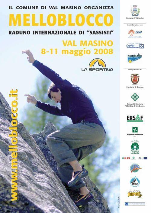 La quinta edizione del Melloblocco si terrà in Val Masino, Italia, dal 8 al 11 maggio 2008, Giulio Malfer