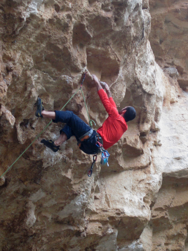 Max Flaccavento climbing Gola bagnata 7c, Max Flaccavento