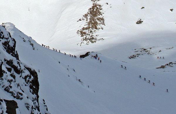 All'inizio della cresta del Grand Mont, Lorenzo Scandroglio