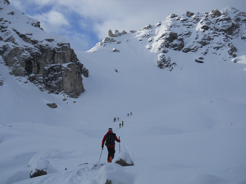 Travelling along the Haute Route ski tour Chamonix - Zermatt, Paolo Tombini