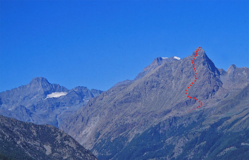 Uja di Mondrone and the normal route from Molera., Elio Bonfanti