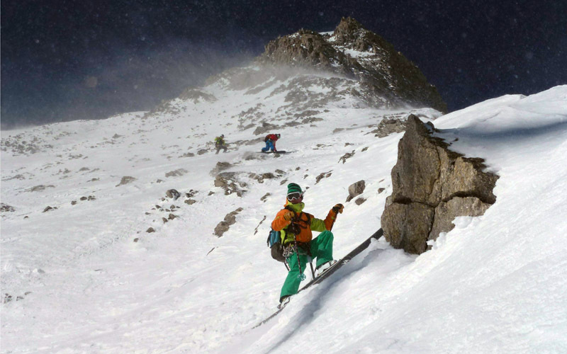 On 23/04/2013 Francesco Civra Dano, Luca Rolli, Julien Herry e Davide Capozzi made the first repeat of the East Face of Aiguille Blanche de Peuterey., archivo Davide Capozzi