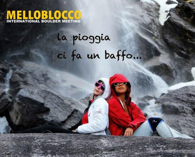 Melloblocco 2013... la pioggia ci fa un baffo, Luca Maspes