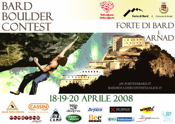 Il Bard Boulder Contest 2008 - Raduno internazionale d'arrampicata boulder ad Arnad e Bard, 18-19-20 aprile 2008., Planetmountain.com