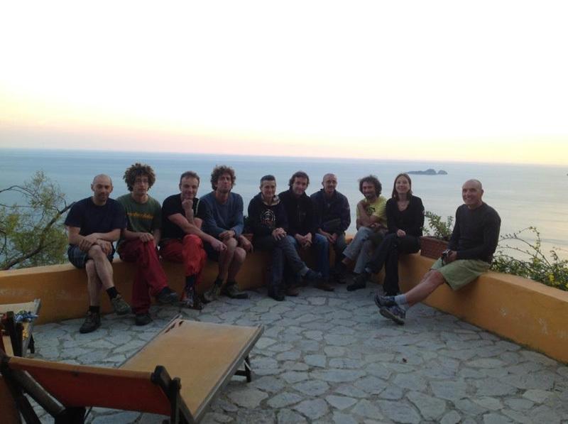 Il gruppo dei chiodatori quasi al completo, archivio Roberto Vigiani
