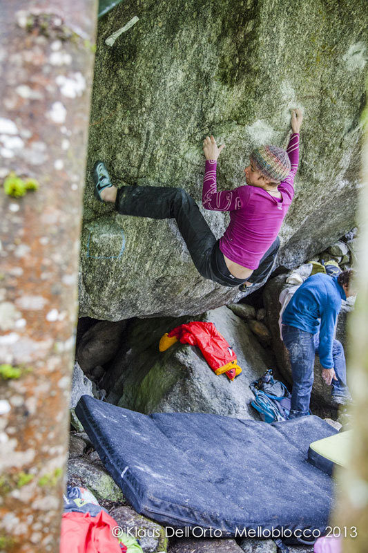 Anna Borella on Climb for life, Klaus Dell'Orto