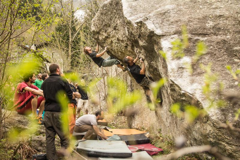 Melloblocco 2013, day seven: i climbers in valle, Gianluca Bosetti