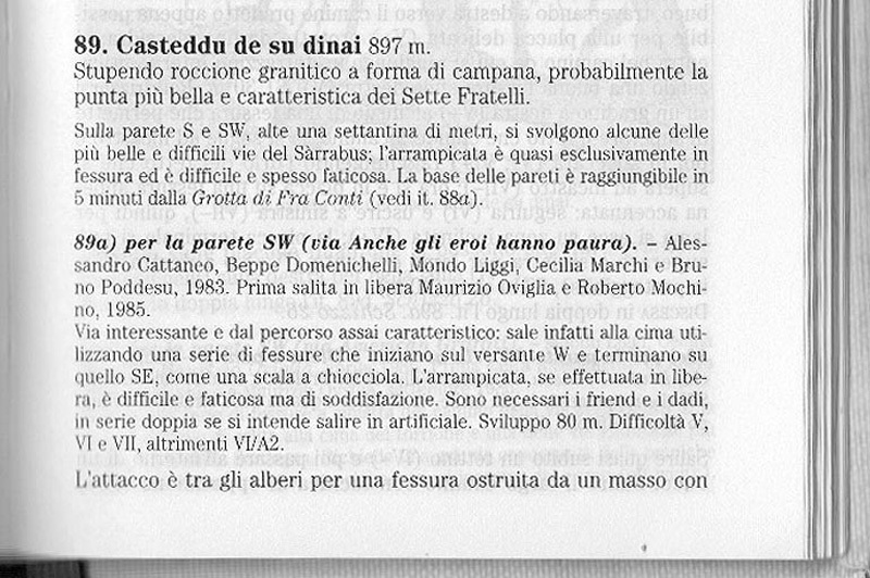 The ruote description in the guidebook CAI/TCI Monti d'Italia, Maurizio Oviglia