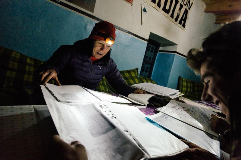 Aprile 2013: Studiando le vie nel Gîtes di Youssef Riziki, Franz Walter