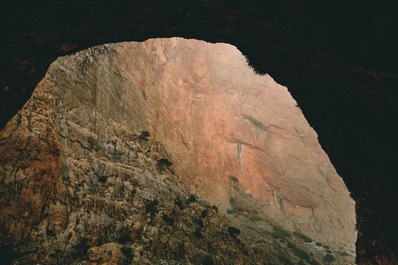 April 2013: the view from the bivy cave onto the SW Face of Tadrarate, Franz Walter