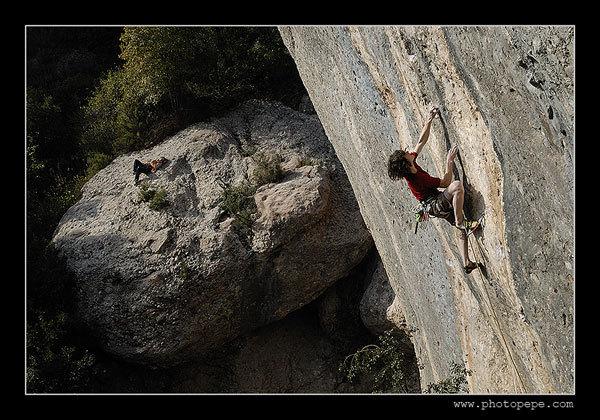 Adam Ondra climbing Vacas Lokas 8a+, Montserrat, Spain. www.photopepe.com, Petr Piechowicz