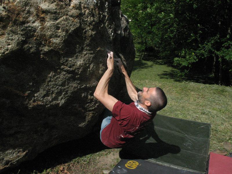 Bouldering at Quincinetto, archivio Paolo Tombini