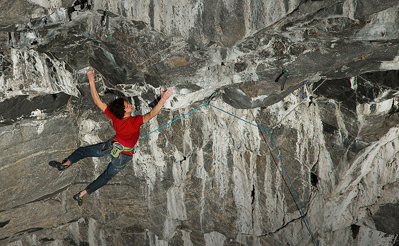 Adam Ondra on his route Change 9b+, Flatanger, Norway