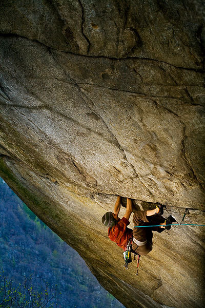 Nicolas Favresse making the first repeat of Greenspit, 8b+, Valle dell'Orco, Italy, Bernardo Gimenez