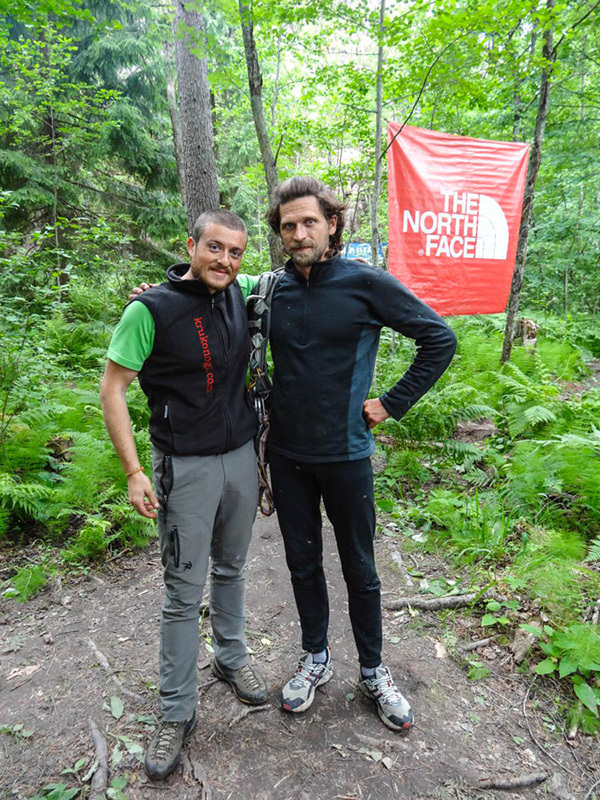 Diego Pezzoli e Kirill Ivanov durante l' Alpine Marathon svoltasi dal 14-16 giugno a Svetogorsk in Russia., Diego Pezzoli