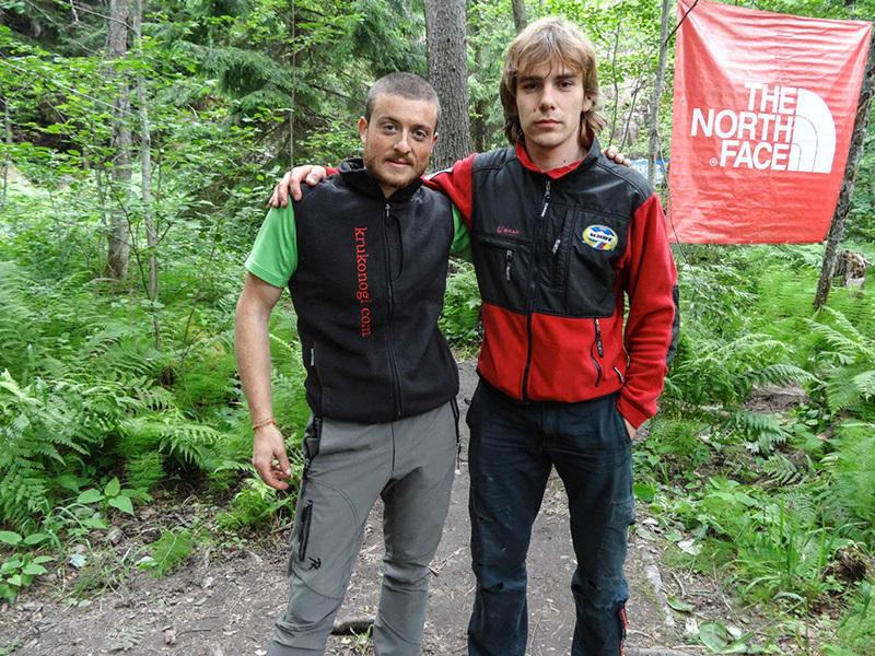 Diego Pezzoli e Maxim Torganov durante l' Alpine Marathon svoltasi dal 14-16 giugno a Svetogorsk in Russia., Diego Pezzoli