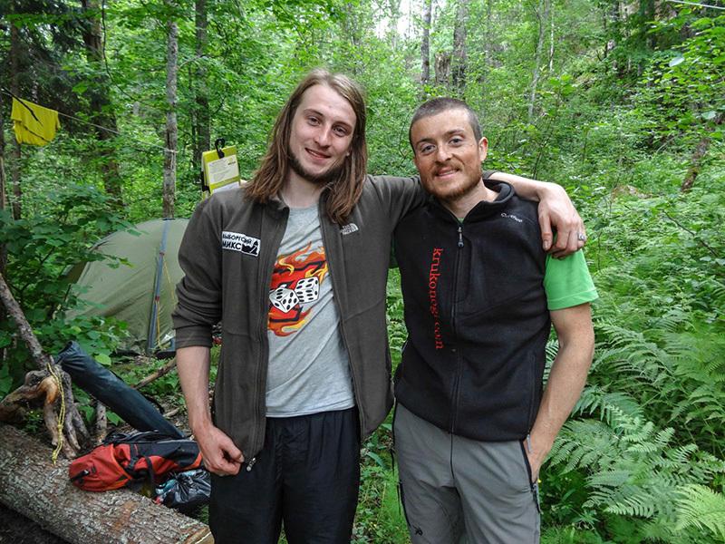 Jura Pavlov e Diego Pezzoli durante l' Alpine Marathon svoltasi dal 14-16 giugno a Svetogorsk in Russia., Diego Pezzoli