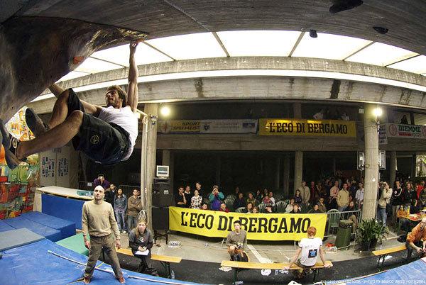 La seconda tappa della Coppa Italia Boulder 2008 a Gandino (BG)., Marco Presti