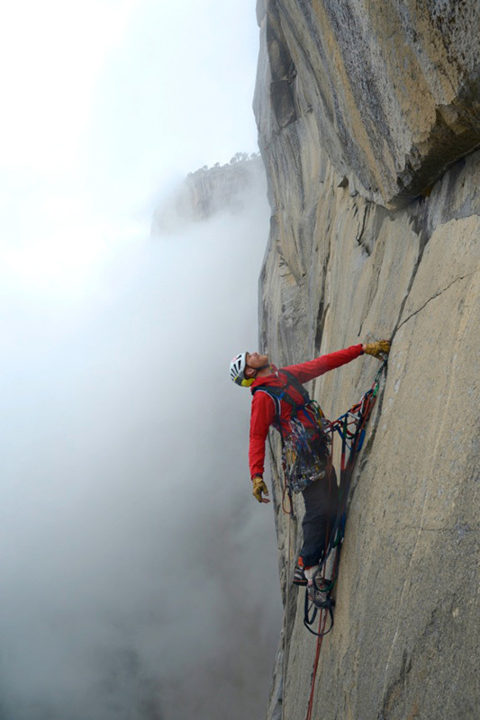 Steve Bate in solitaria sulla via Zodiac, El Capitan, Yosemite, Andy Kirkpatrick
