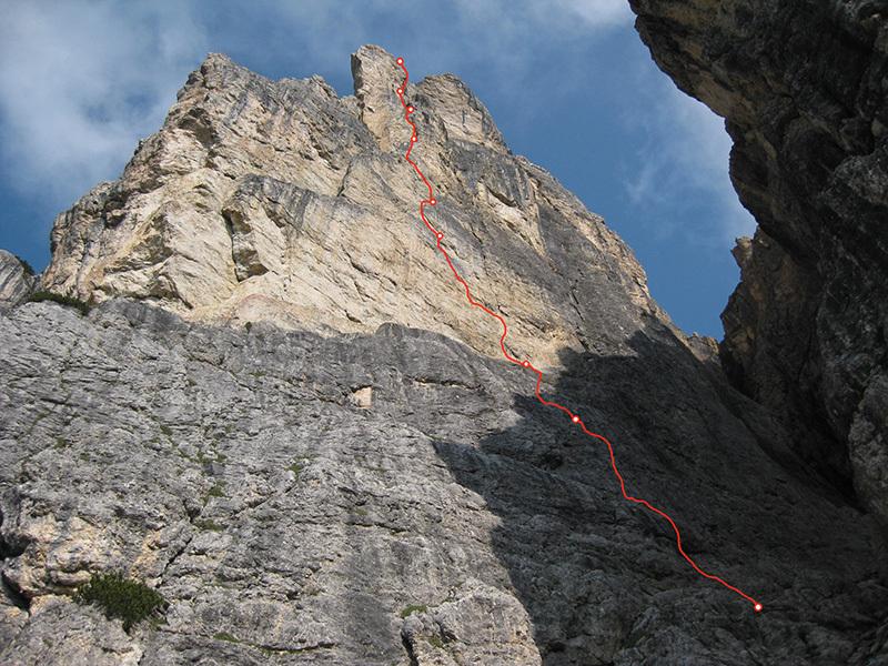 Via Lisetta, Col dei Bos, Dolomiti: , archivio Andrea Simonini