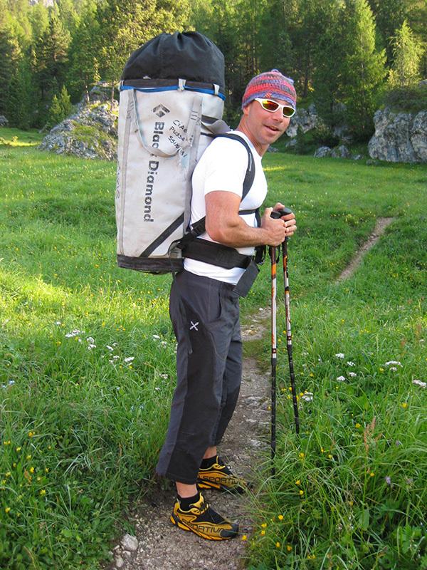 Via Lisetta, Col dei Bos, Dolomiti: Lorenzo Moretto, archivio Andrea Simonini